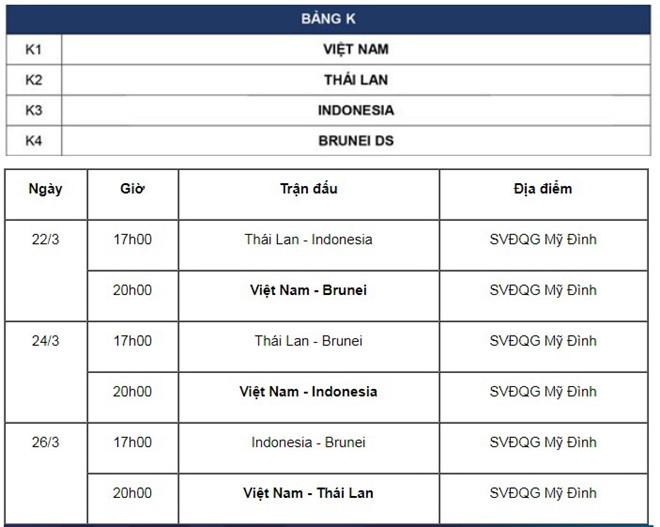 lịch thi đấu u23 việt nam vòng loại châu á