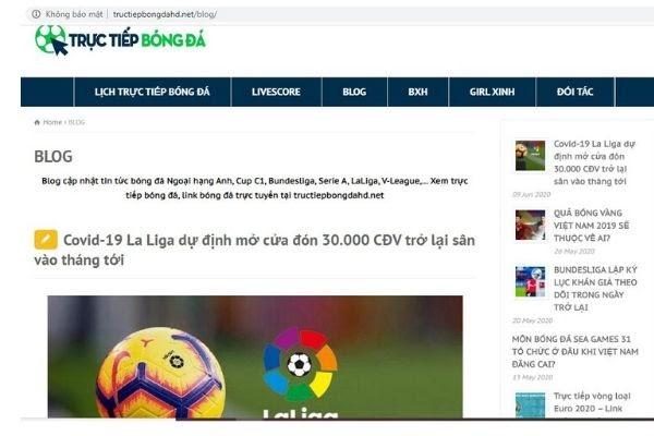 truyền hình trực tiếp bóng đá